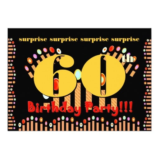 Free 60th Surprise Invitation Template