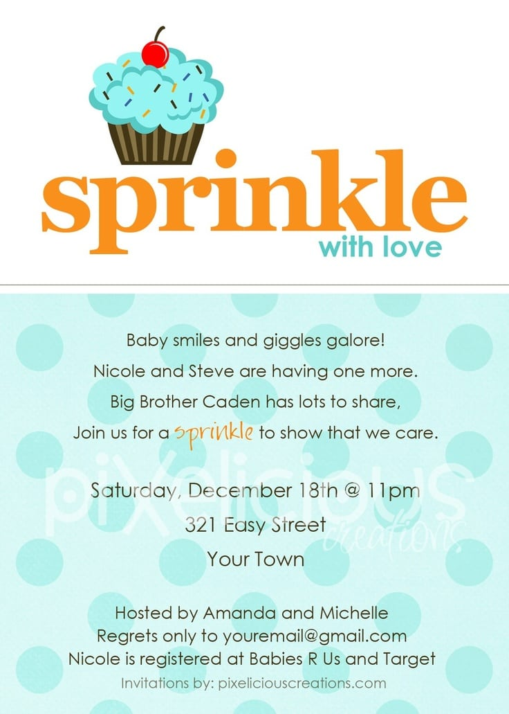 Free Baby Boy Sprinkle Invitations