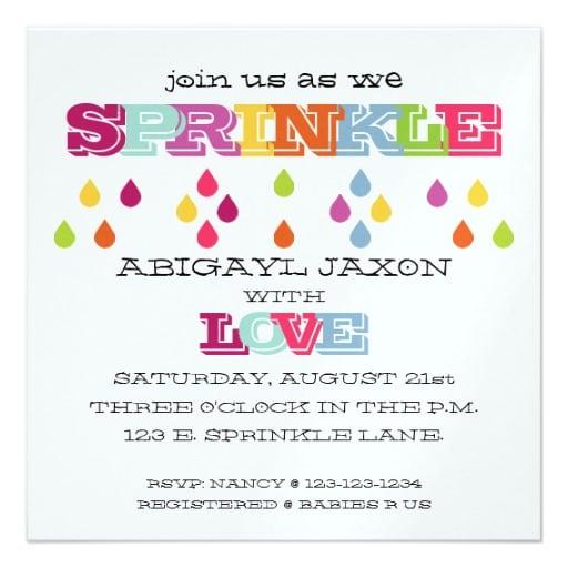 Free Baby Sprinkle Invitation