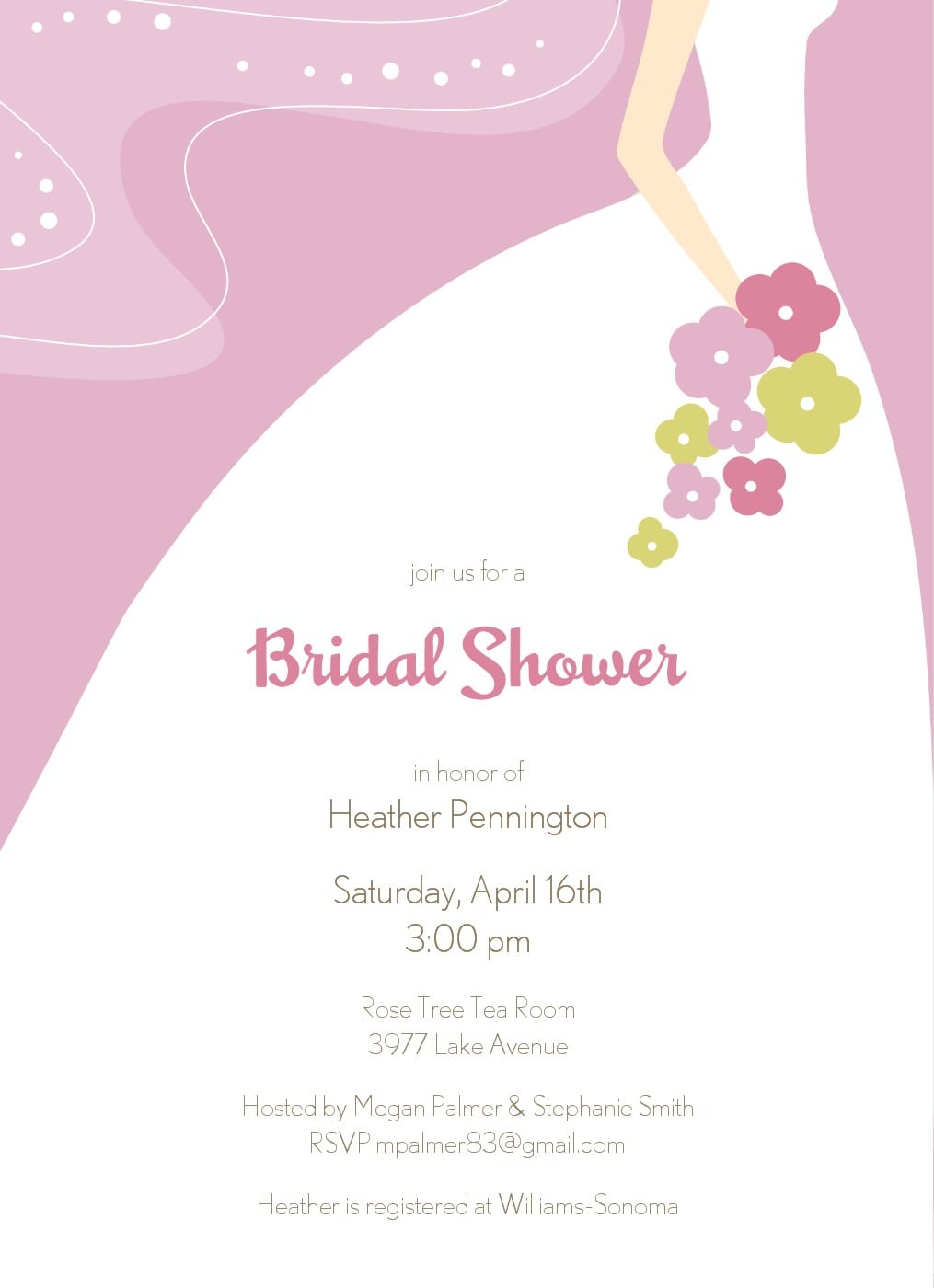Free wedding shower template for invitation for Free bridal shower invitation templates downloads