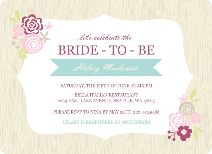 Free wedding shower template for invitation for Free bridal shower templates