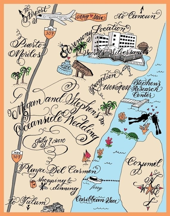 Free Custom Maps For Wedding Invitations