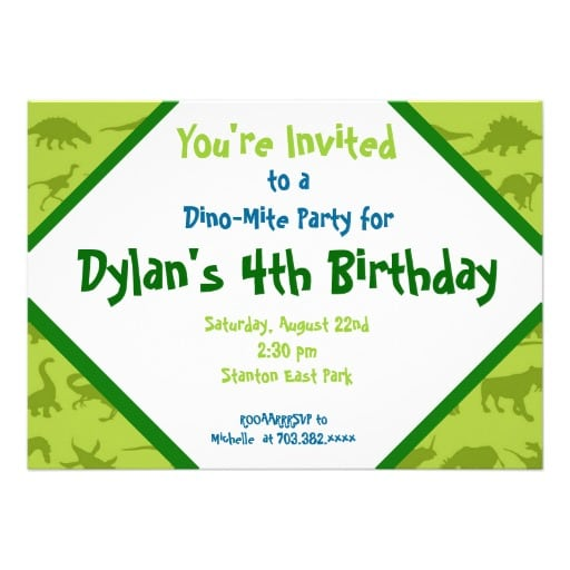 Free Dinosaur Birthday Party Invitation