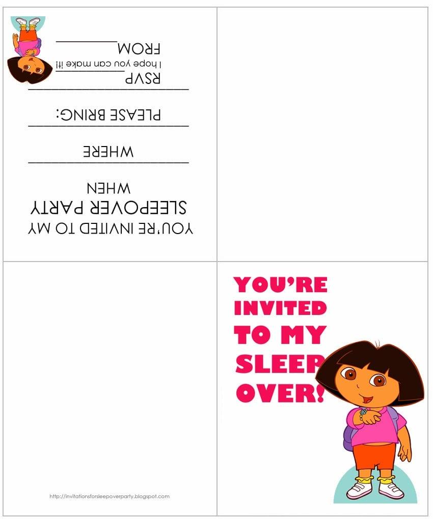 Free Dora Party Invitation Template