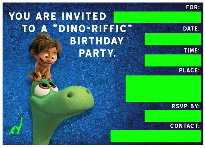 Free Download Dinosaur Invitation