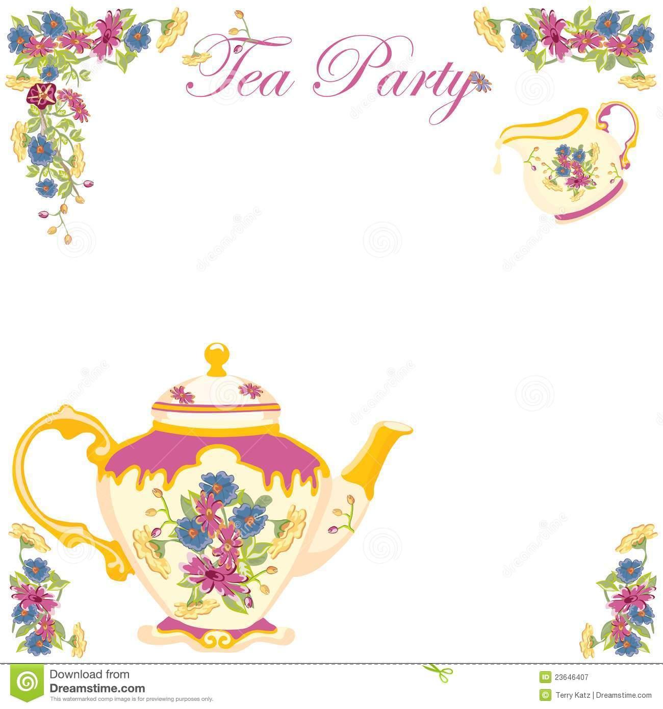 clipart tea party invitation - photo #38
