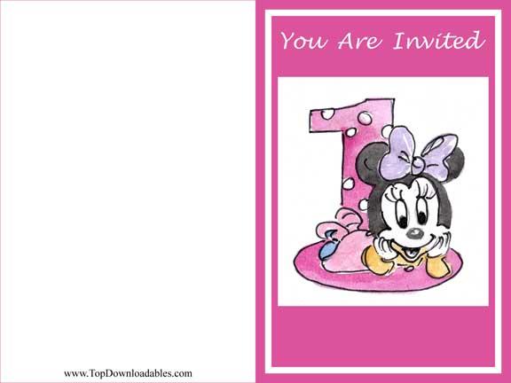 downloadable minnie mouse invitation, Birthday invitations