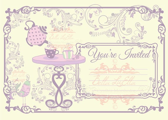 Free Downloadable Tea Party Invitations