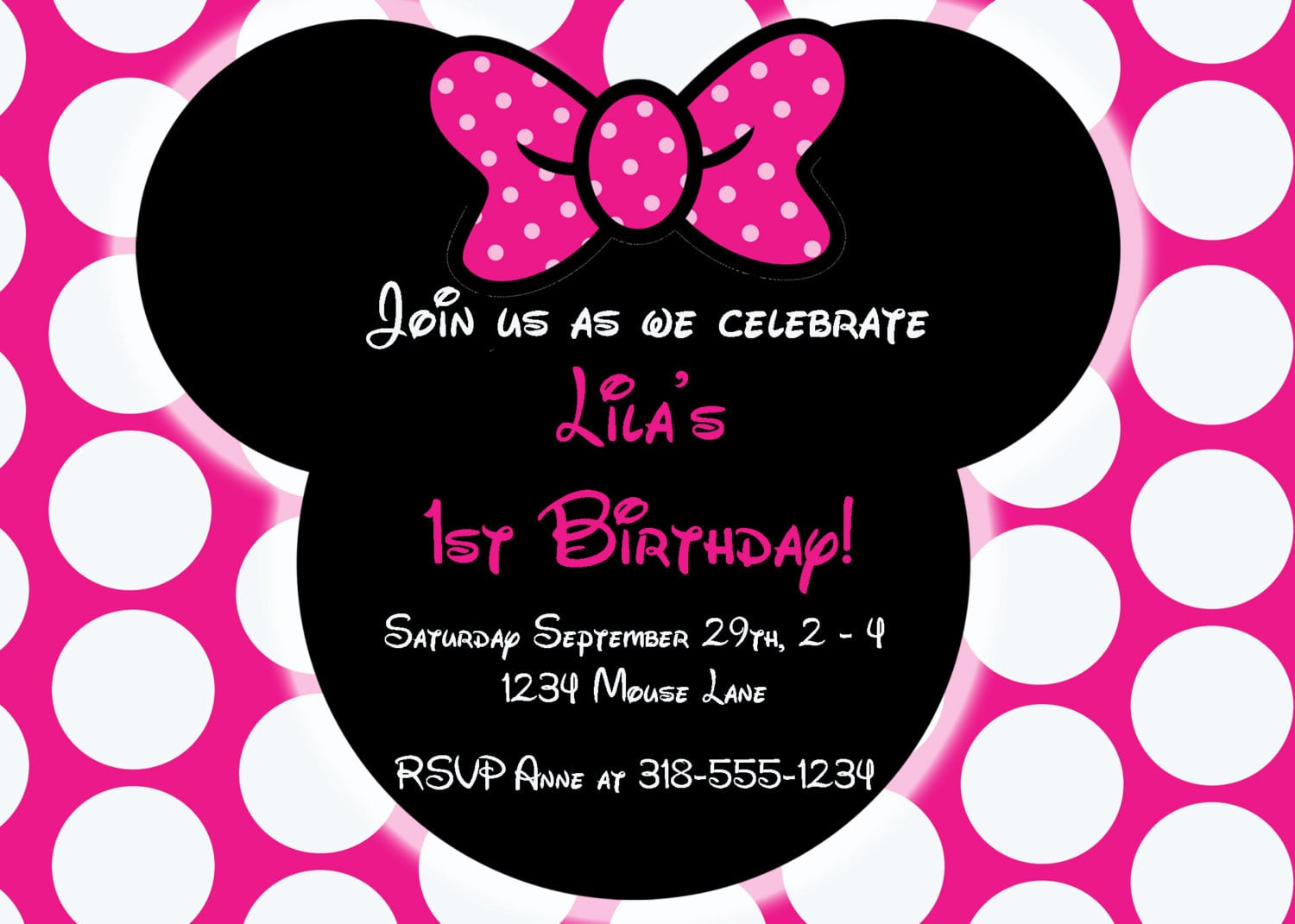 editable free minnie mouse invitation, Birthday invitations