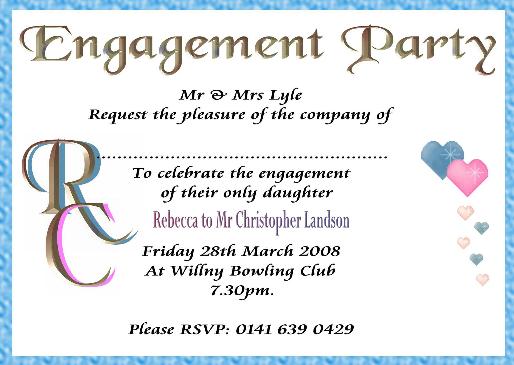 Word Template Engagement Invitation – How to Word Engagement Party Invitations