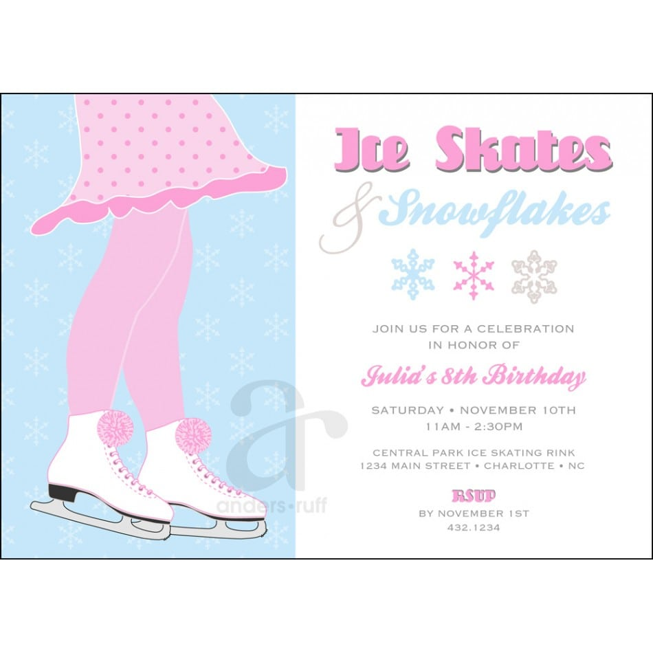 Free Skating Party Invitation Template
