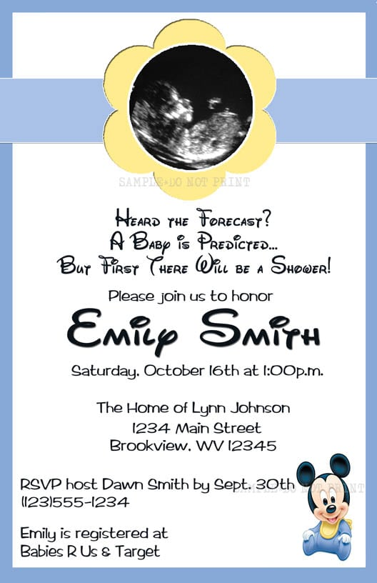 free mickey mouse baby shower invitations printable