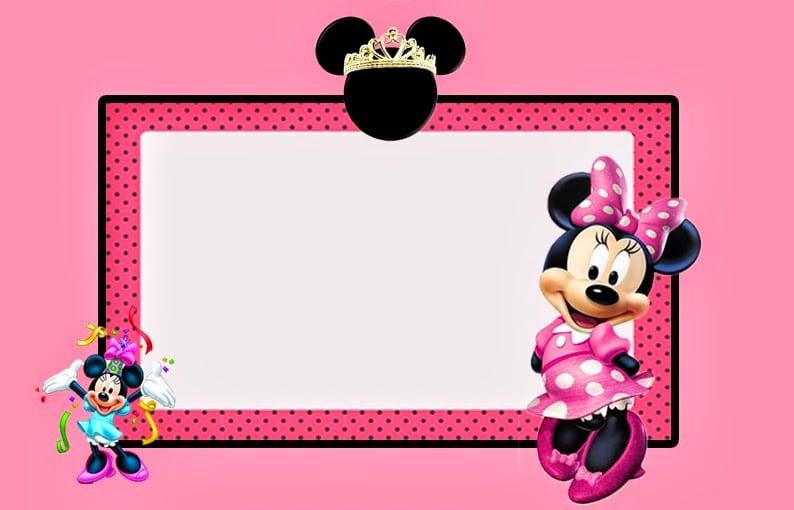 Free Minnie Mouse Invitations Printable