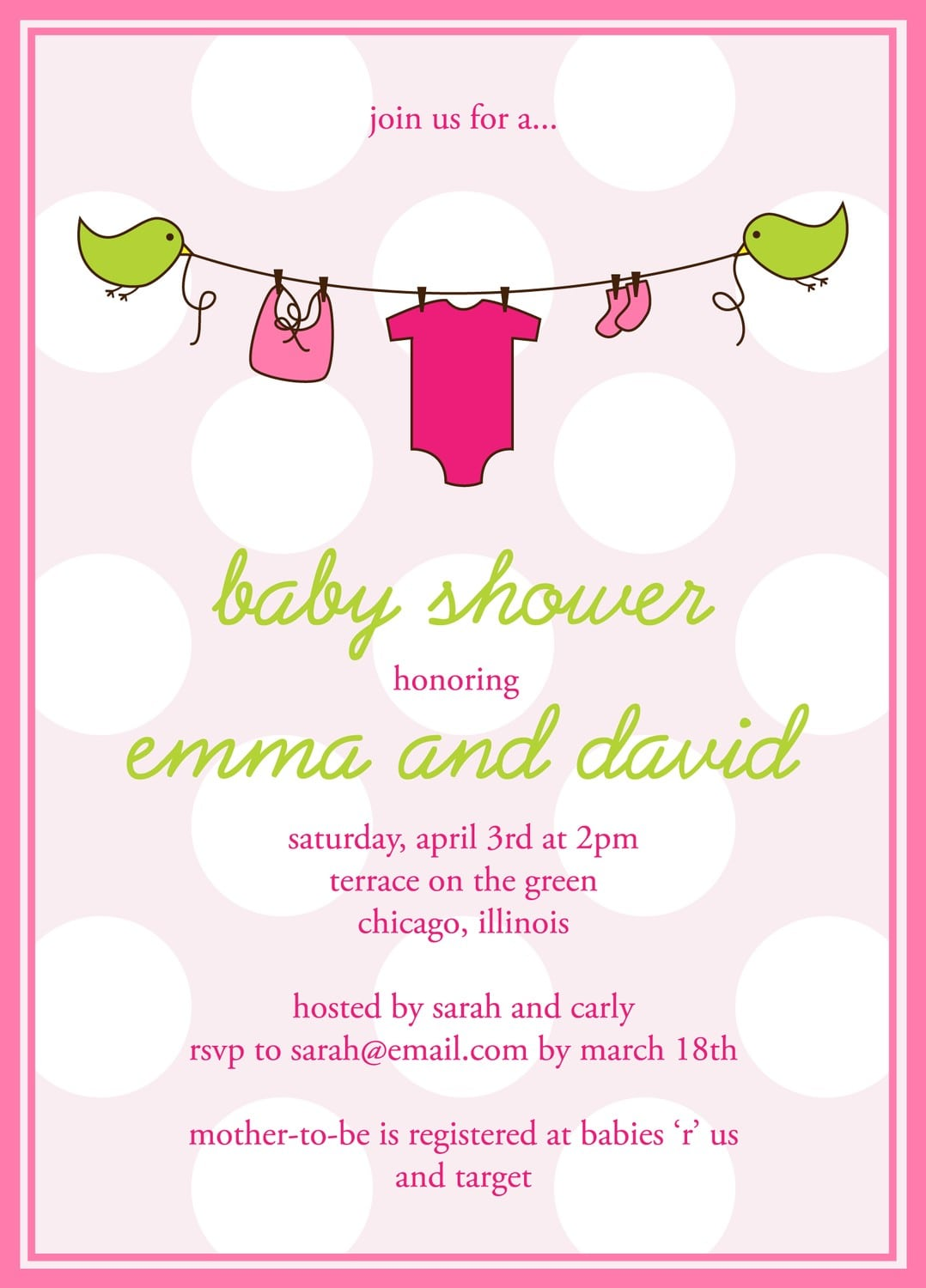 free downloadable baby shower invitation