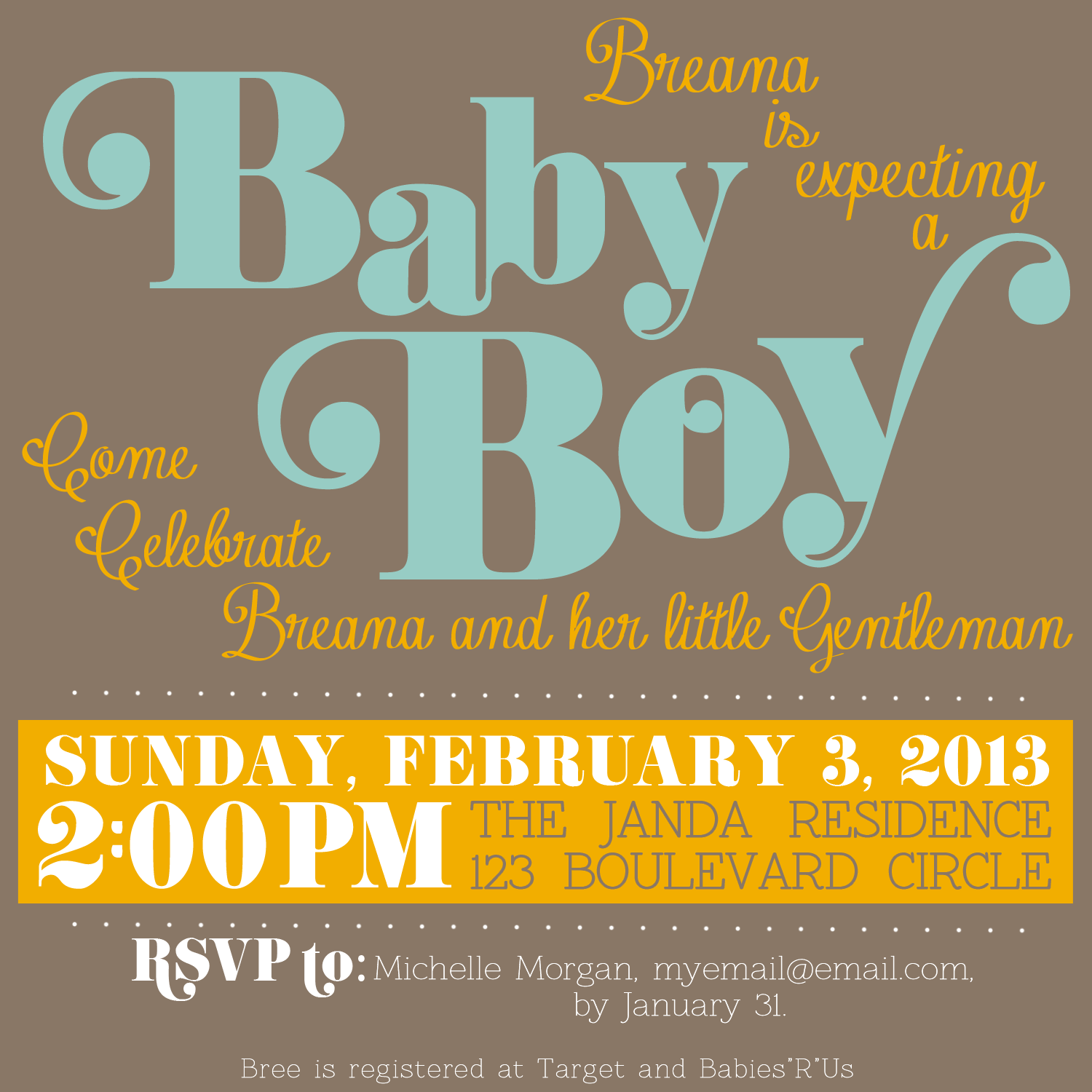 Free downloadable baby shower invitation for Free online baby announcement templates