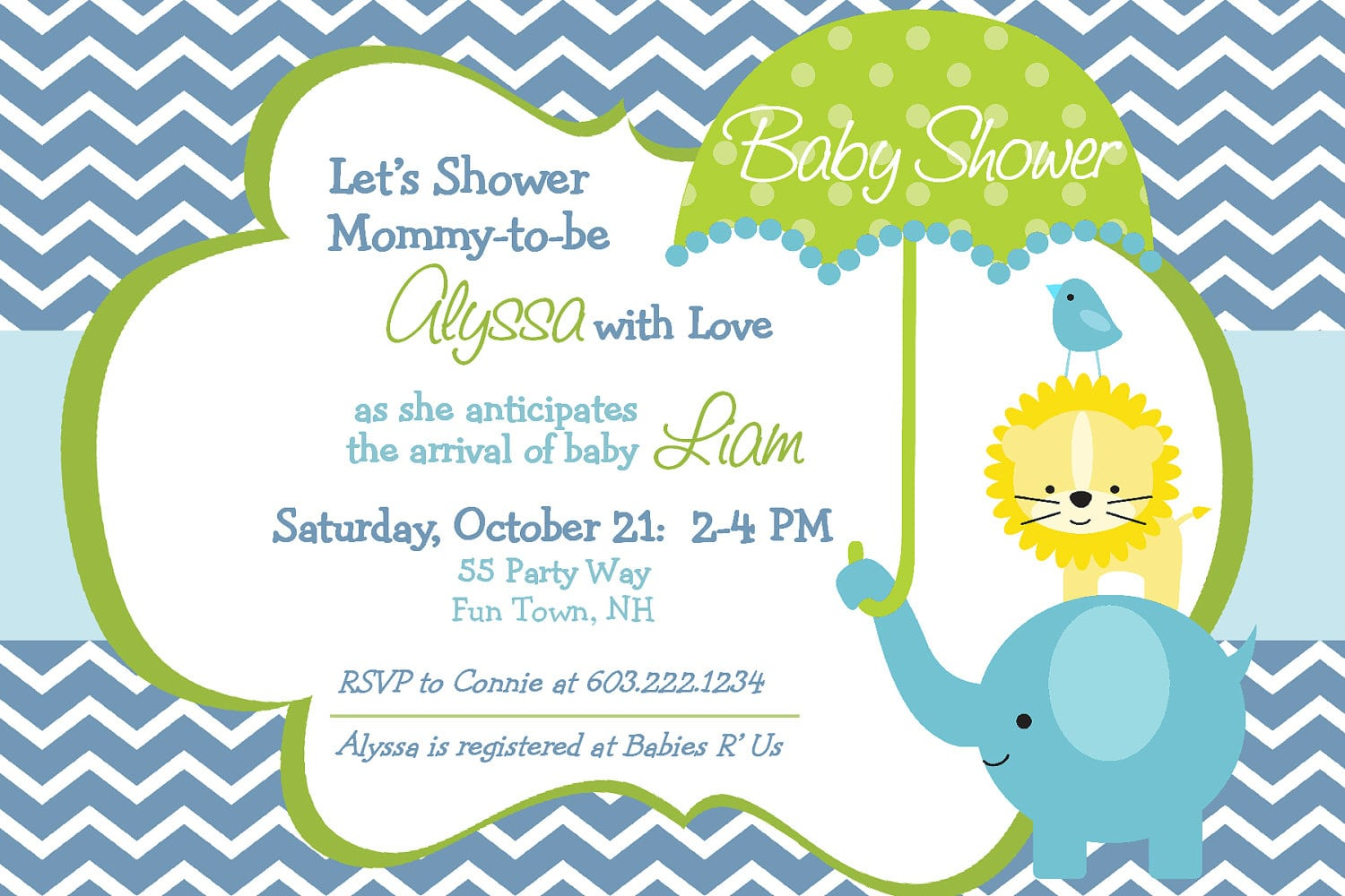 Free Online Baby Shower Printable Invitations