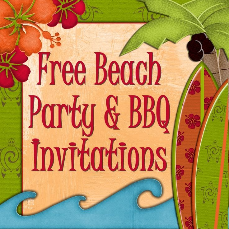 Free Printable Beach Party Invitations