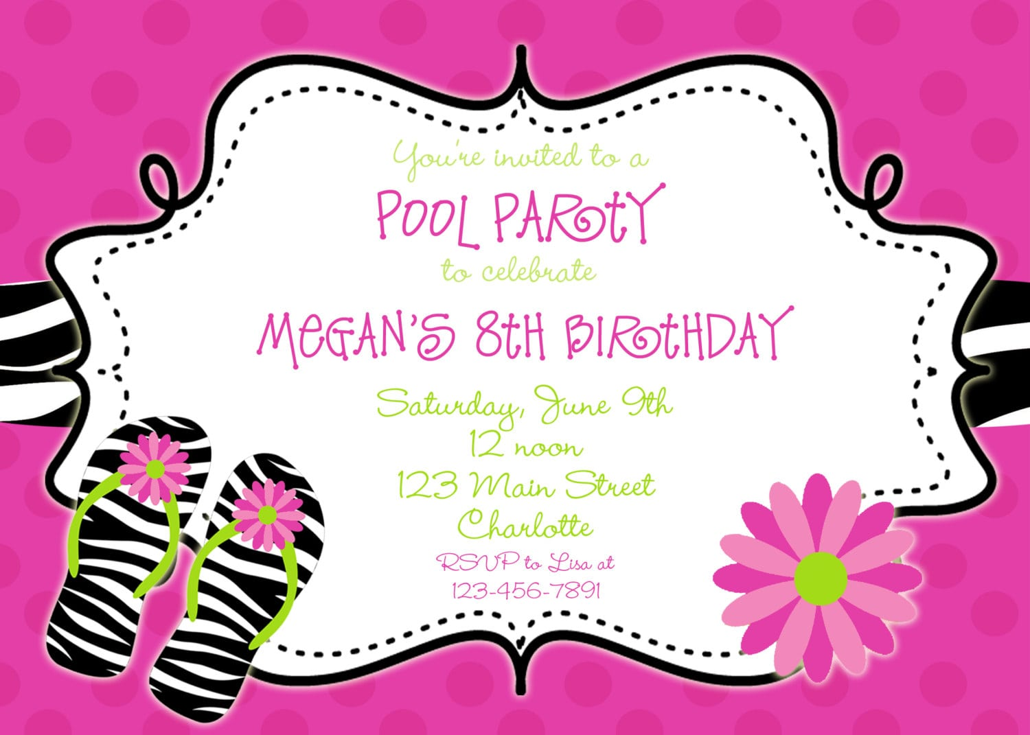 pool party invitations templates free - print free birthday pool party invitation