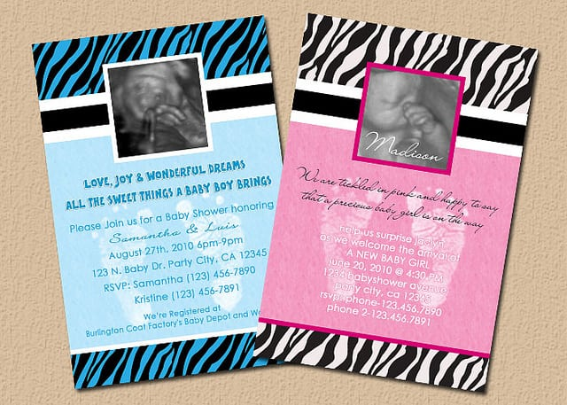 Free Printable Cheetah Print Baby Shower Invitations