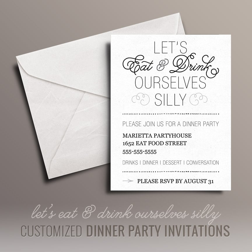 Free Printable Christmas Dinner Party Invitations