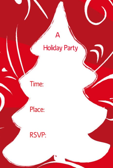 Free Printable Christmas Party Invitation Cards