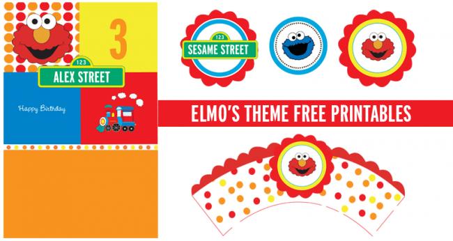 Free Printable Elmo Invitation Cards