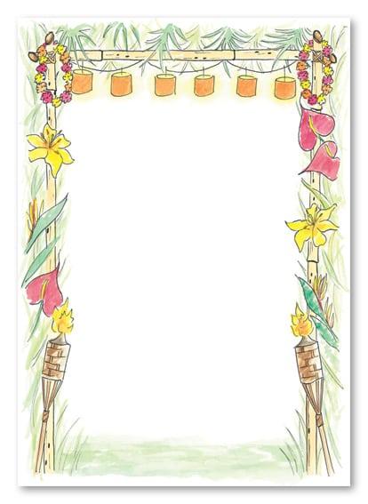 Free Printable Hawaiian Themed Invitation Template For Baby
