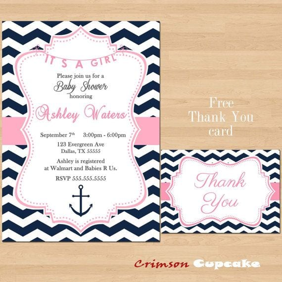 Printable its a girl baby shower invitation download filmwisefo Image collections