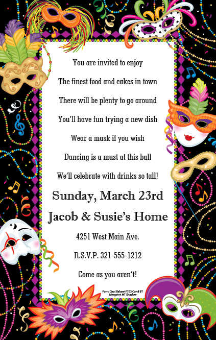 free printable mardi gras invitation