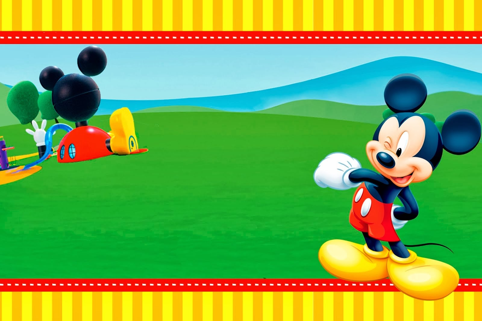 Free Mickey Mouse Printable Birthday Invitation