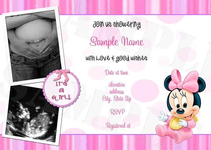 Minnie mouse printable baby shower invitation filmwisefo