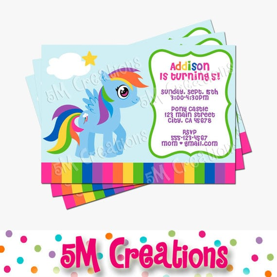 Free Printable My Little Pony Party Invitations