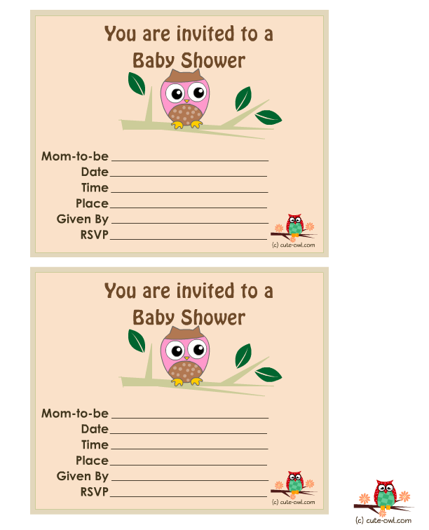Free Printable Pink Baby Shower Invitations
