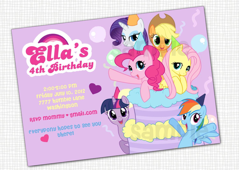 Free Printable Pony Party Invitations