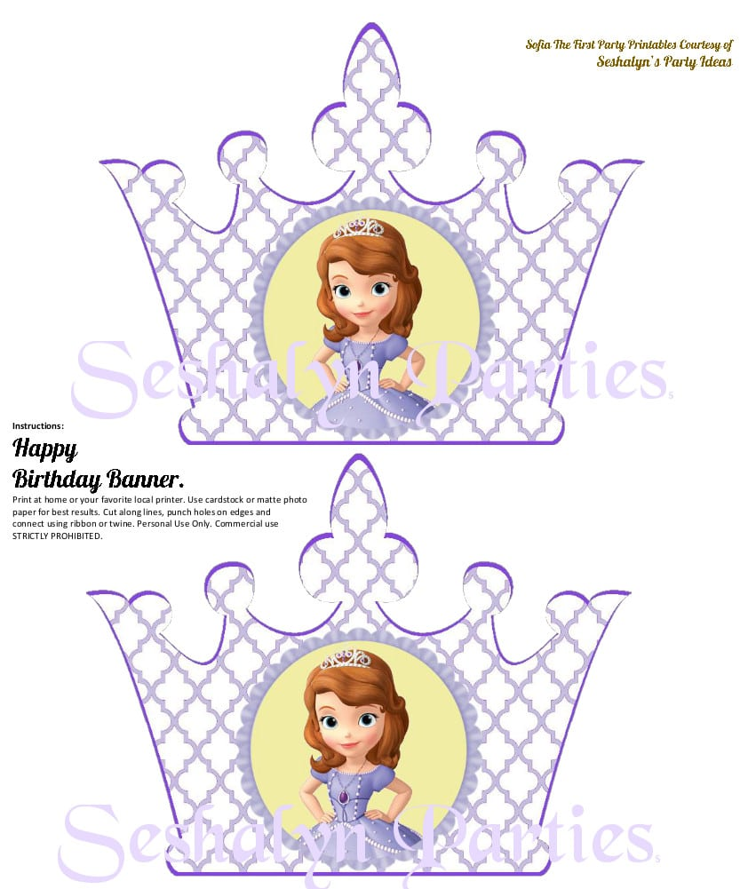 Download Sophia The First Party Princess Cupcake Toppers Images Of Princess Sofia Printable