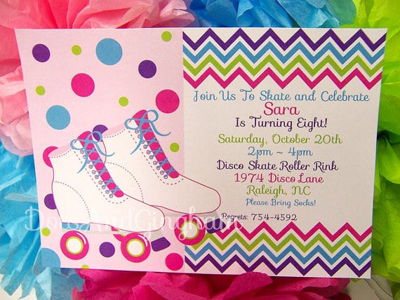 Free Roller Skate Party Invitation