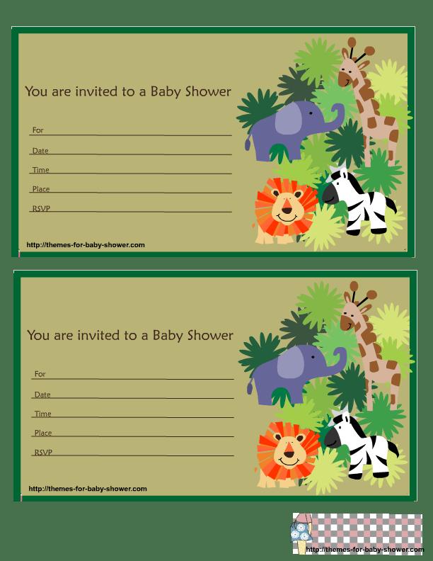 Baby Shower Safari Invitation Template