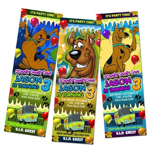 Free Printable Scooby Doo Birthday Party Invitations