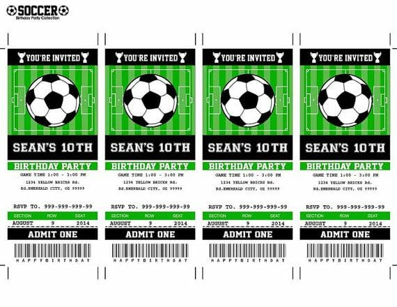 Free Printable Soccer Invitations For Birthday Party