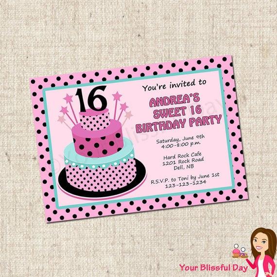 Printable sweet sixteen party invitation filmwisefo