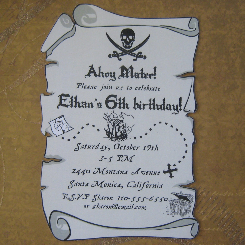 printable treasure map invitation