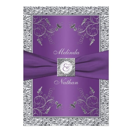 Backdrops Silver Wedding Invitations: Free 25th Wedding Invitation Template