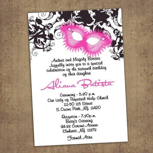 Free Quinceanera Invitations To Print