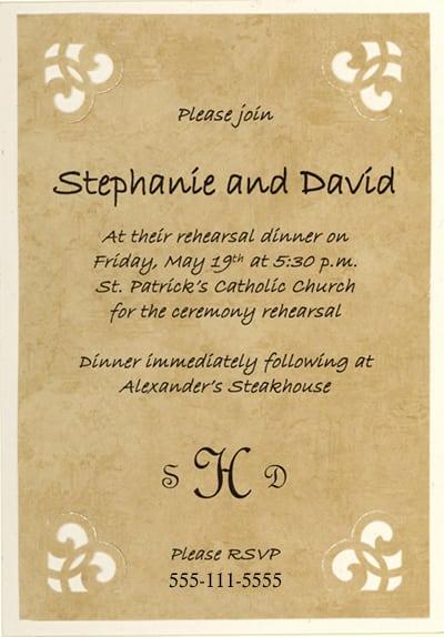 Free Rehearsal Dinner Invitation To Print