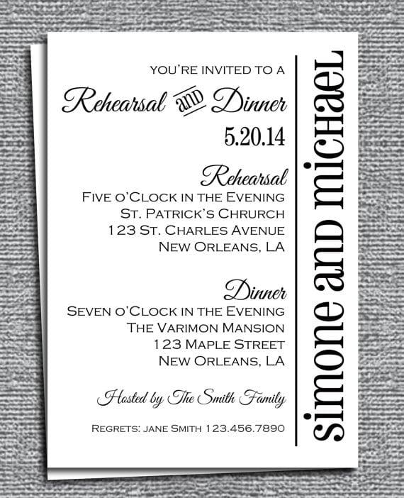 Free Rehearsal Dinner Invitations Printables