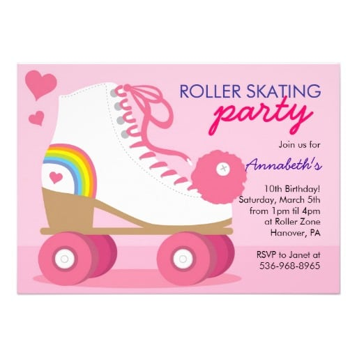 Roller Disco Party Invitation Template