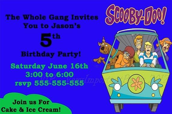 Free Scooby Doo Birthday Invitation