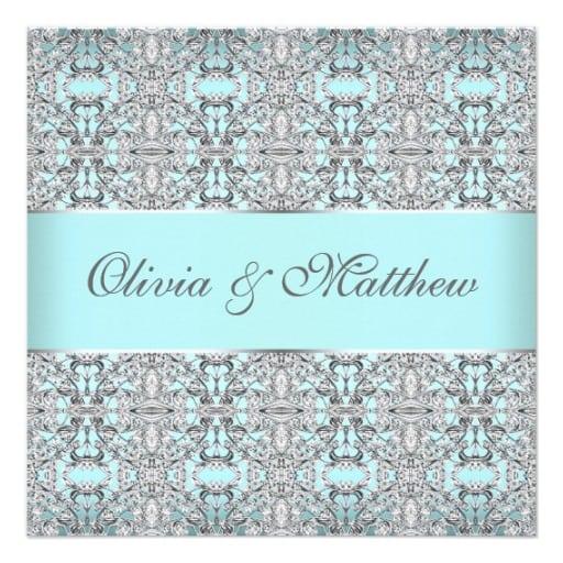 Free Silver Wedding Invitation Templates