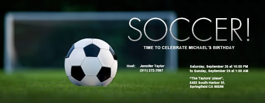 Free Soccer Invitation Template