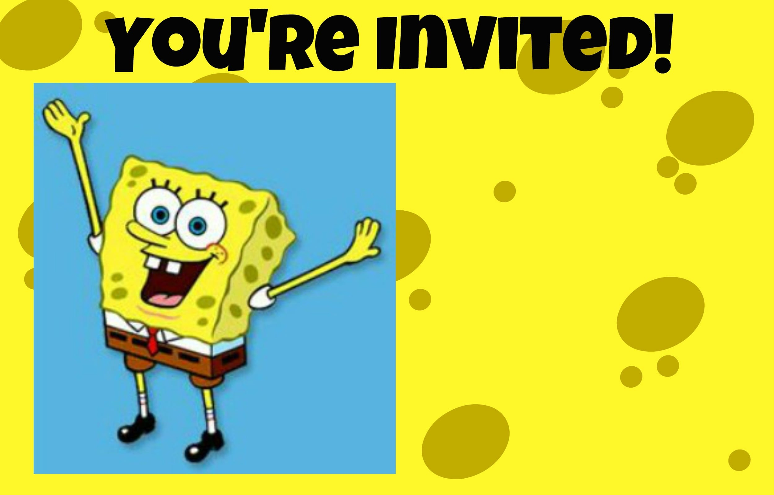 Free Spongebob Birthday Invitation Template